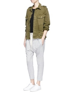 bassikeRelaxed fit drop crotch drawstring jersey pants