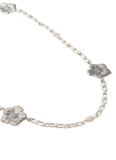 Buccellati Silver small floral station necklace