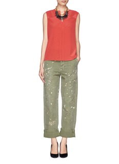 TORY BURCH'Vea' silk pleat blouse