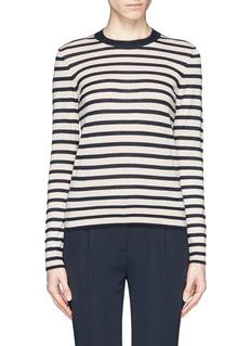TORY BURCH'Iberia' stripe cashmere sweater