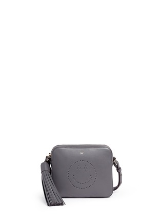 Anya Hindmarch - 'Smiley' perforated leather crossbody bag