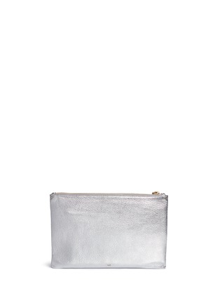 Back View - Click To Enlarge - Anya Hindmarch - 'Space Invaders Georgiana' embossed metallic leather clutch