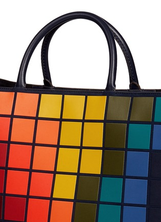 Detail View - Click To Enlarge - Anya Hindmarch - 'Pixels Maxi Featherweight Ebury' patchwork suede tote
