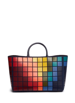 Main View - Click To Enlarge - Anya Hindmarch - 'Pixels Maxi Featherweight Ebury' patchwork suede tote