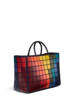 'Pixels Maxi Featherweight Ebury' patchwork suede tote