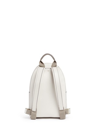 Back View - Click To Enlarge - Anya Hindmarch - 'Pixel Smiley Mini' embossed leather backpack