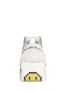 Anya Hindmarch 'Pixel Smiley Mini' embossed leather backpack