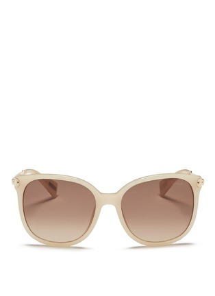 Main View - Click To Enlarge - Lanvin - Metal temple acetate D-frame sunglasses