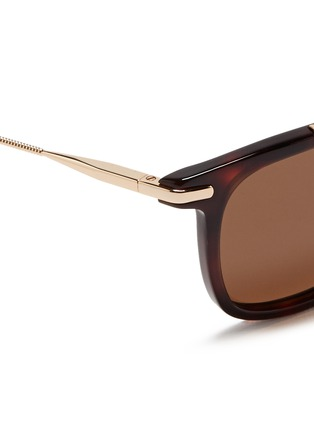 Detail View - Click To Enlarge - Lanvin - Herringbone chain temple tortoiseshell acetate square sunglasses