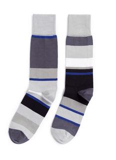 Paul Smith'Odd' stripe and colourblock socks