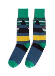 Paul SmithStripe and colourblocking socks