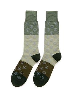 Paul Smith'Gradient Peace' colourblock socks