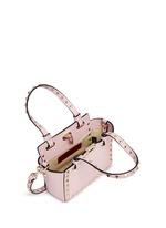 'Rockstud' micro mini leather tote