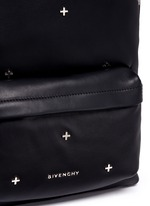 Small cross stud leather backpack