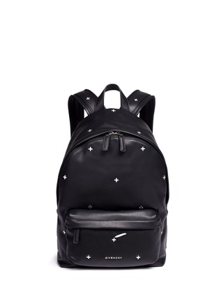 Main View - Click To Enlarge - Givenchy - Small cross stud leather backpack