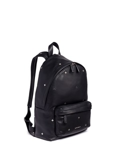GivenchySmall cross stud leather backpack