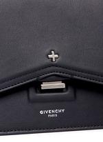 'Bow Cut' cross stud leather crossbody bag