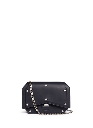 Main View - Click To Enlarge - Givenchy - 'Bow Cut' cross stud leather crossbody bag