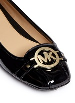 'Fulton' logo plaque patent leather flats