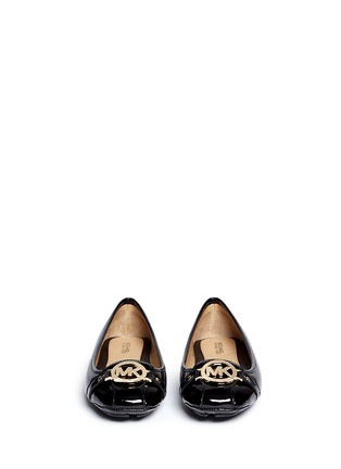 Michael Kors - 'Fulton' logo plaque patent leather flats