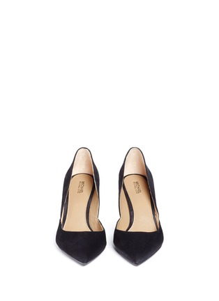 Front View - Click To Enlarge - Michael Kors - 'Ashby Flex' suede pumps