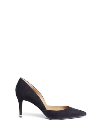 Main View - Click To Enlarge - Michael Kors - 'Ashby Flex' suede pumps