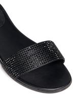 'Eleanor' strass satin slide sandals