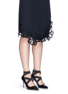 Michael Kors'Viva' crisscross strappy leather pumps