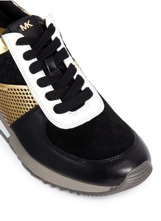 Detail View - Click To Enlarge - Michael Kors - 'Allie' colourblock patchwork leather sneakers
