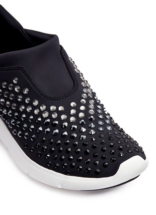 Detail View - Click To Enlarge - Michael Kors - 'Ace' embellished scuba slip-on sneakers