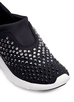 'Ace' embellished scuba slip-on sneakers