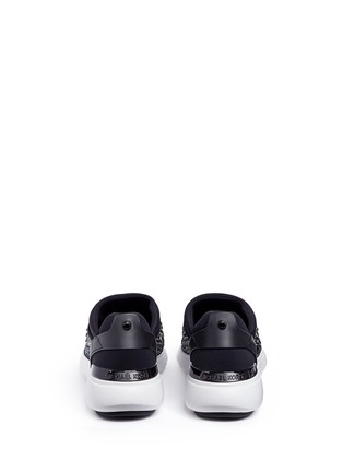 Back View - Click To Enlarge - Michael Kors - 'Ace' embellished scuba slip-on sneakers
