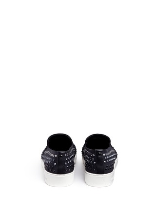 Back View - Click To Enlarge - Michael Kors - 'Keaton' embellished scuba skate slip-ons