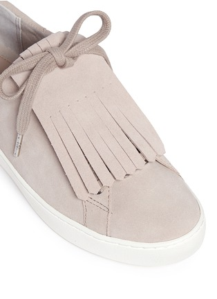 Detail View - Click To Enlarge - Michael Kors - 'Keaton' kiltie flap suede sneakers