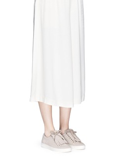Michael Kors'Keaton' kiltie flap suede sneakers