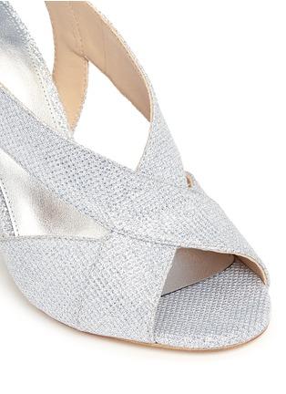 Michael Kors-'Becky' metallic glitter lamé slingback sandals