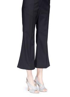 Michael Kors'Becky' metallic glitter lamé slingback sandals