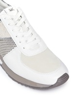 'Allie' colourblock patchwork leather sneakers