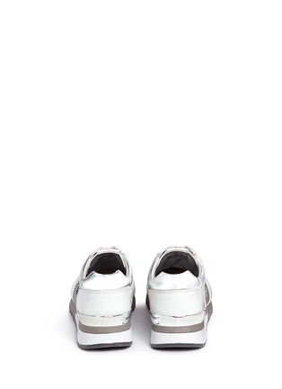 Back View - Click To Enlarge - Michael Kors - 'Allie' colourblock patchwork leather sneakers