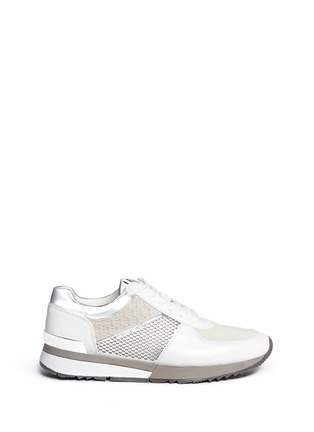 Main View - Click To Enlarge - Michael Kors - 'Allie' colourblock patchwork leather sneakers