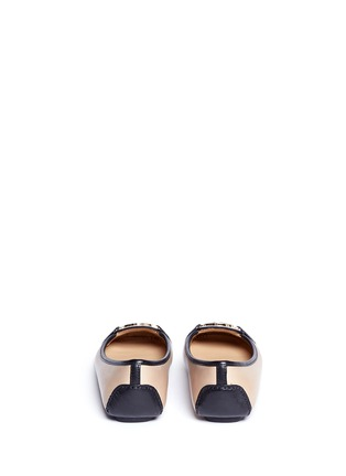 Back View - Click To Enlarge - Michael Kors - 'Fulton' logo plaque colourblock leather flats