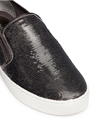 Detail View - Click To Enlarge - Michael Kors - 'Keaton' metallic sequin slip-ons