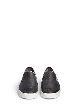 Front View - Click To Enlarge - Michael Kors - 'Keaton' metallic sequin slip-ons