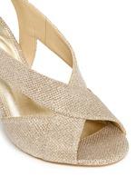 'Becky' metallic glitter lamé slingback sandals