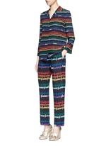 Rainbow print silk pyjama pants