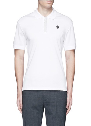 Main View - Click To Enlarge - Alexander McQueen - Logo stud placket polo shirt