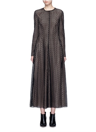 Lanvin - Eyelet broderie anglaise dress