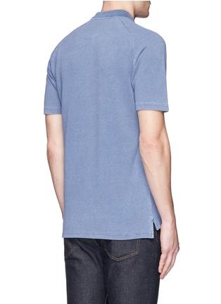 Back View - Click To Enlarge - Denham - 'Joey' raglan sleeve polo shirt