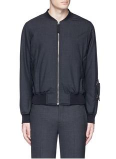 Alexander McQueenPadded wool bomber jacket
