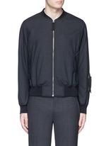 Padded wool bomber jacket
